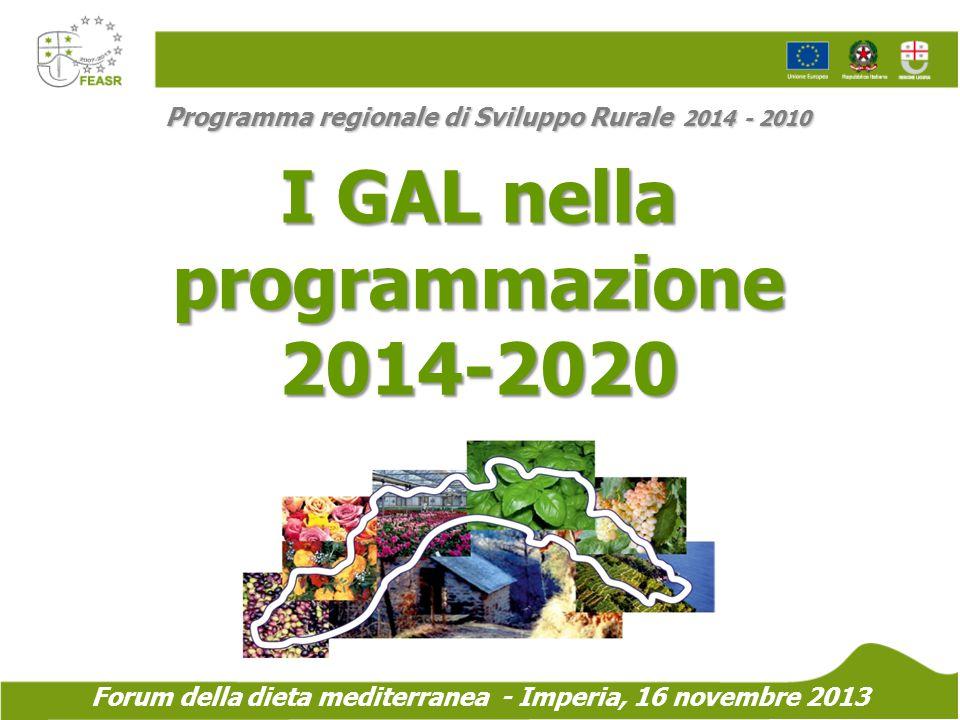 I GAL nella programmazione 2014-2020