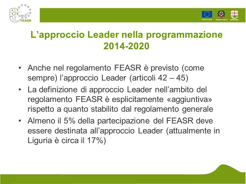 L'approccio Leader nella programmazione 2014-2020