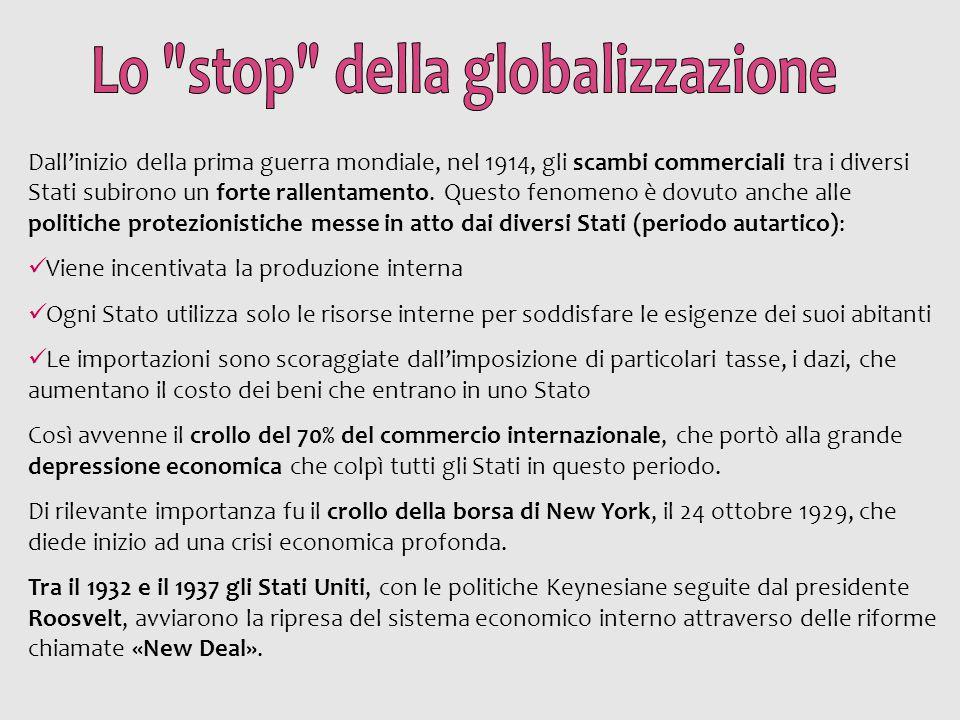 Lo stop della globalizzazione