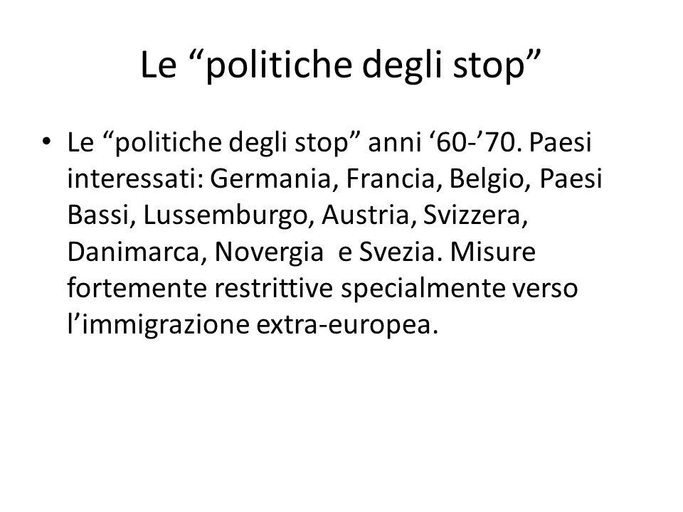Le politiche degli stop