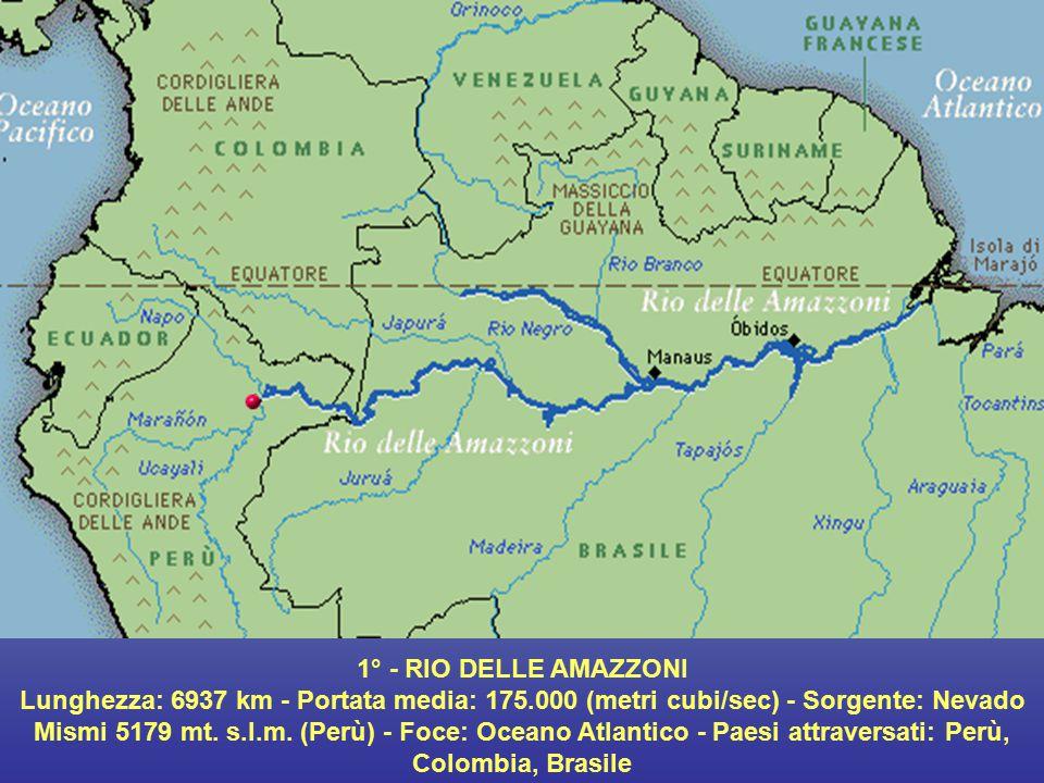 1° - RIO DELLE AMAZZONI