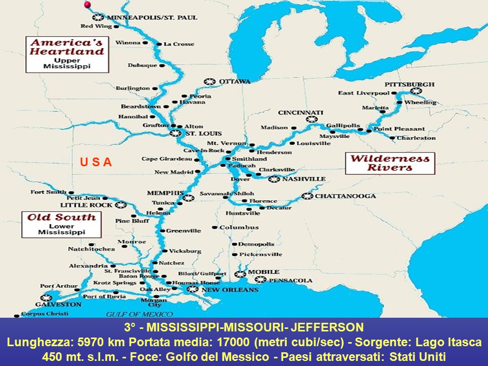 3° - MISSISSIPPI-MISSOURI- JEFFERSON