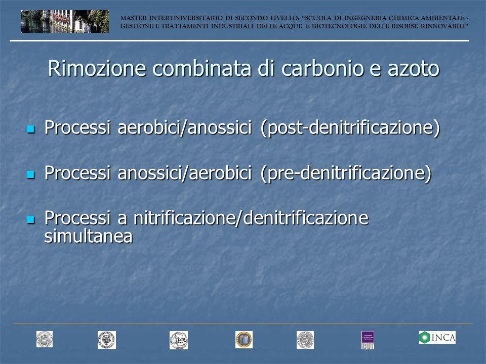 Rimozione combinata di carbonio e azoto
