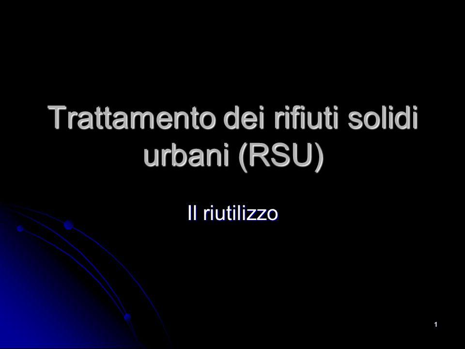 Trattamento dei rifiuti solidi urbani (RSU)