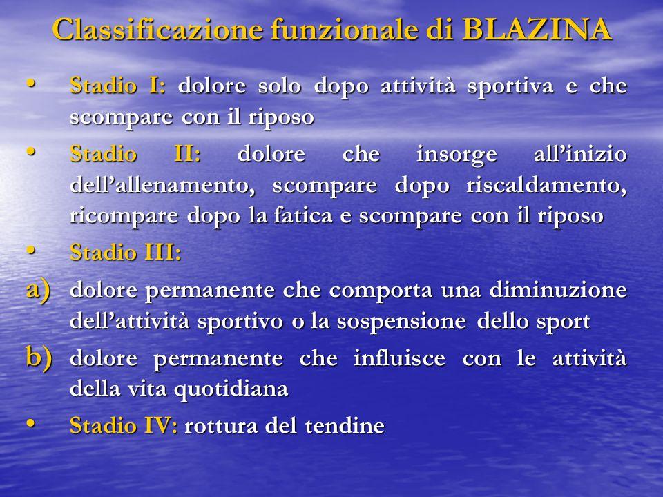 Classificazione funzionale di BLAZINA