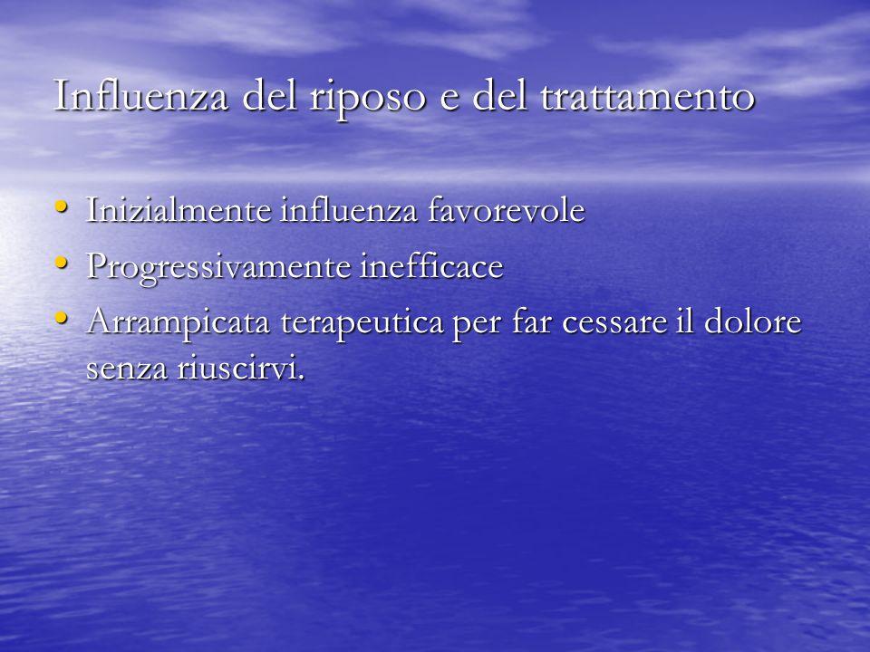 Influenza del riposo e del trattamento
