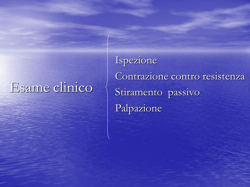 Esame clinico Ispezione Contrazione contro resistenza