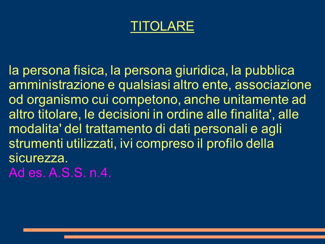 TITOLARE