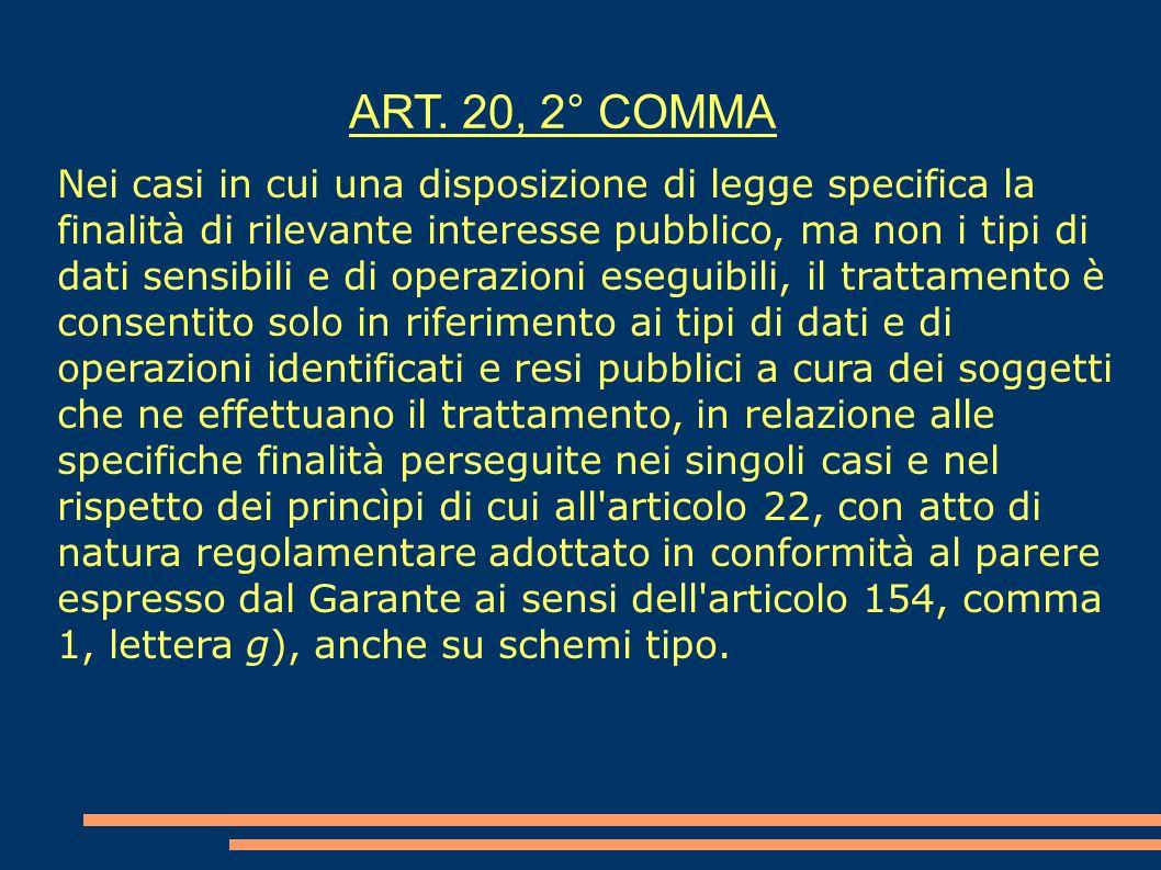 ART. 20, 2° COMMA