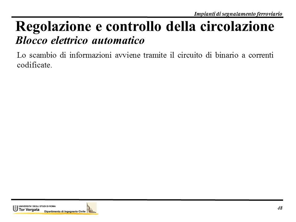 Regolazione e controllo della circolazione Blocco elettrico automatico