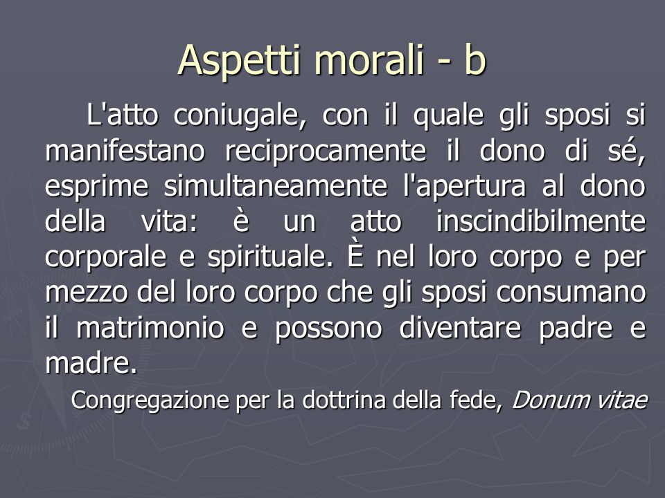 Aspetti morali - b