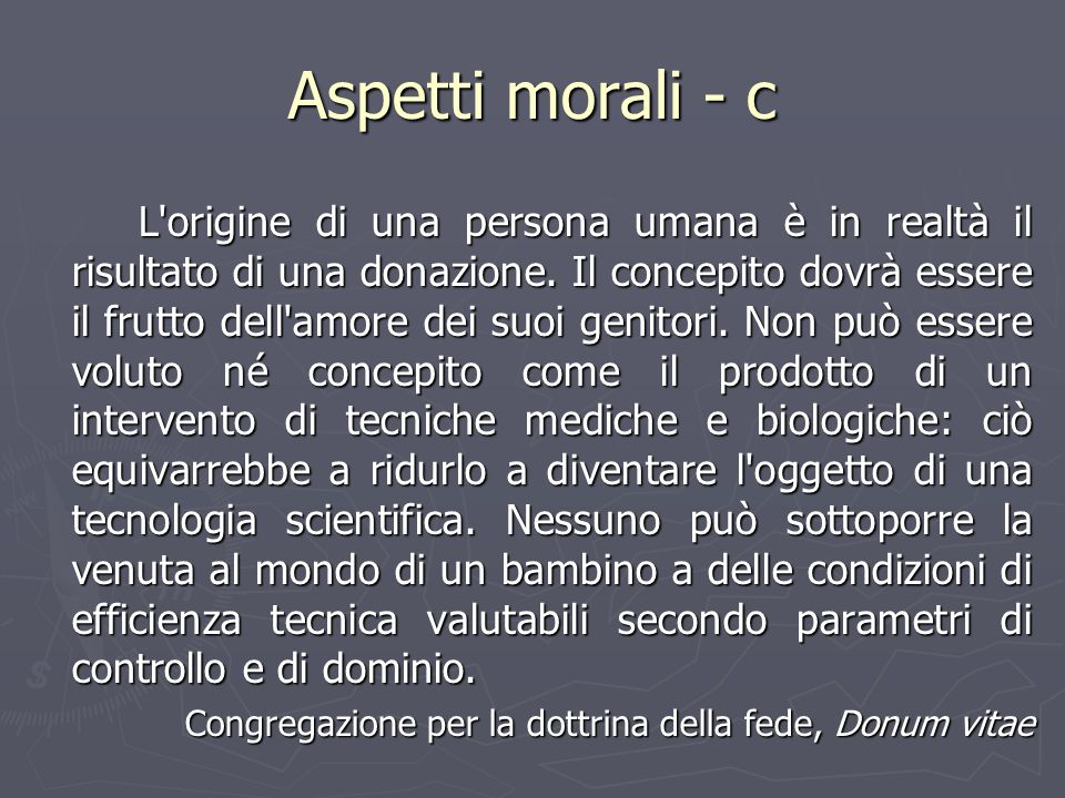 Aspetti morali - c