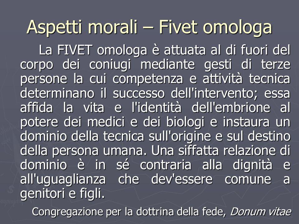 Aspetti morali – Fivet omologa