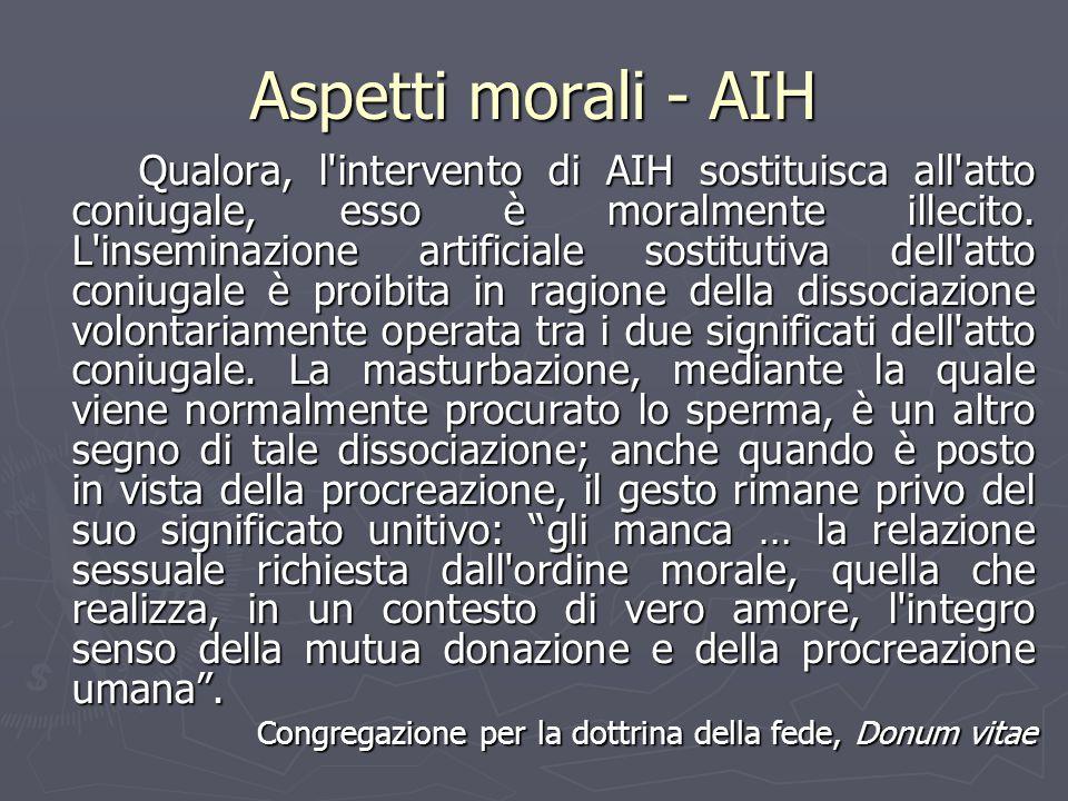 Aspetti morali - AIH