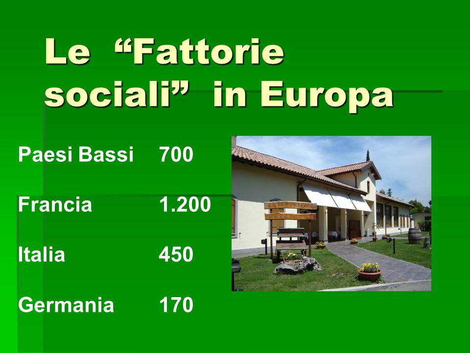 Le Fattorie sociali in Europa