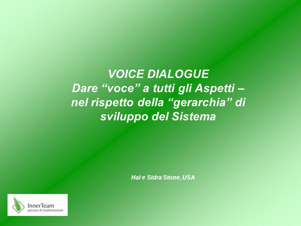 VOICE DIALOGUE Dare voce a tutti gli Aspetti – nel rispetto della gerarchia di sviluppo del Sistema
