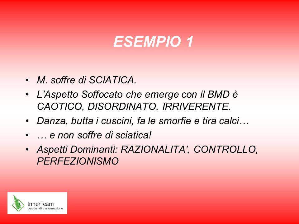 ESEMPIO 1 M. soffre di SCIATICA.