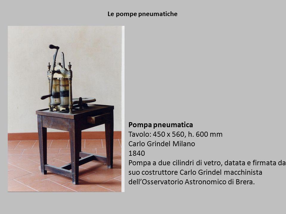 Pompa pneumatica Tavolo: 450 x 560, h. 600 mm Carlo Grindel Milano