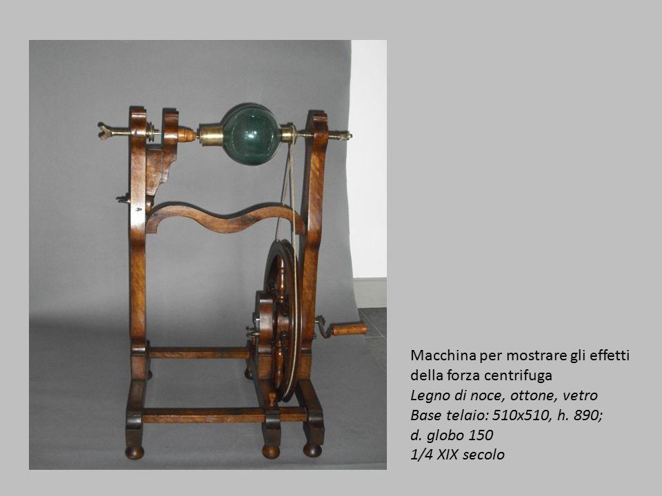 Macchina per mostrare gli effetti della forza centrifuga
