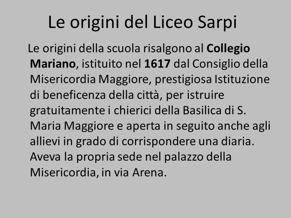 Le origini del Liceo Sarpi