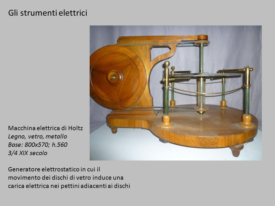Gli strumenti elettrici