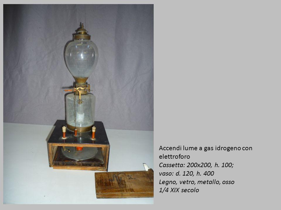 Accendi lume a gas idrogeno con elettroforo