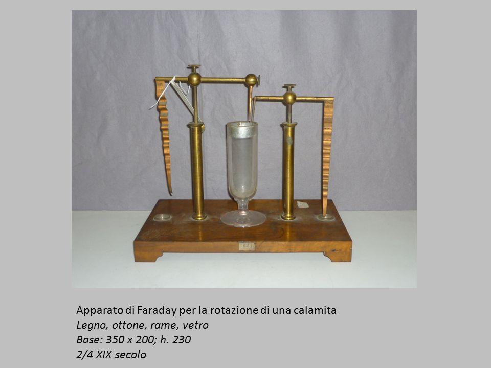 Apparato di Faraday per la rotazione di una calamita