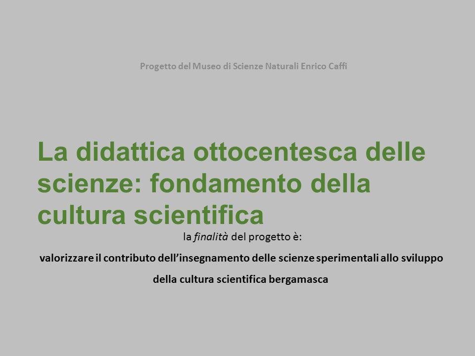 Progetto del Museo di Scienze Naturali Enrico Caffi