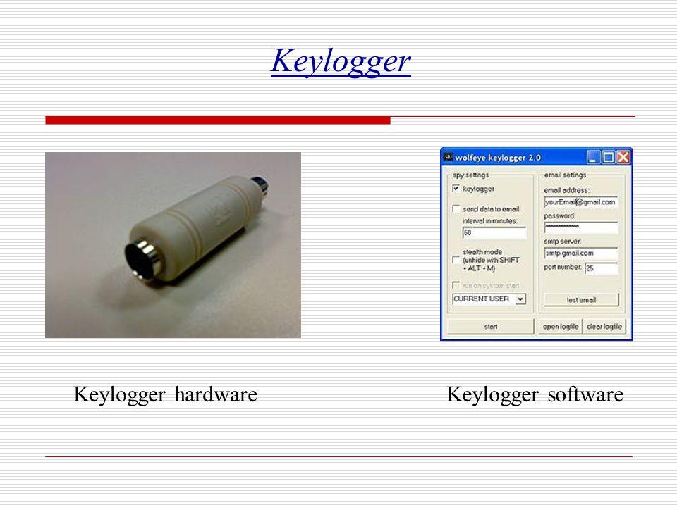 Keylogger Keylogger hardware Keylogger software