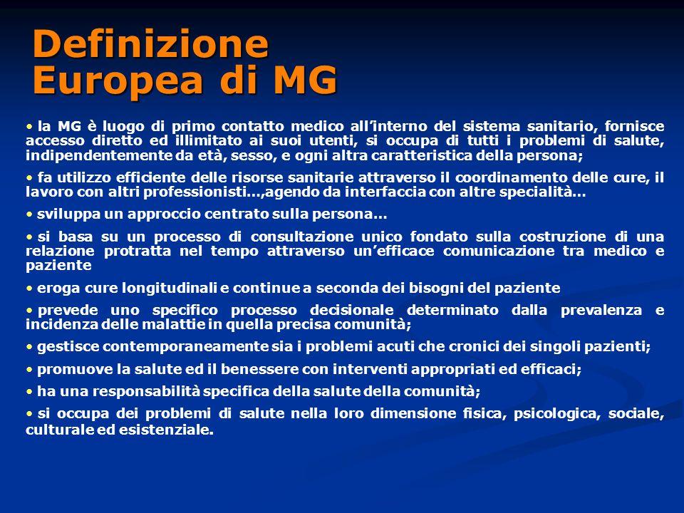 Definizione Europea di MG