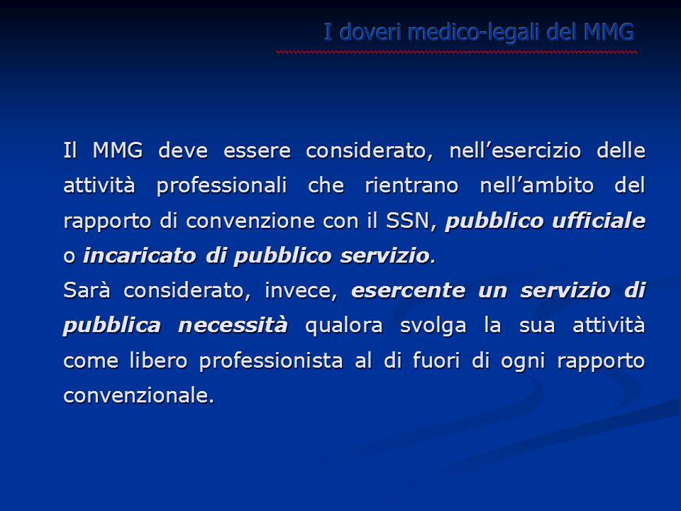 I doveri medico-legali del MMG