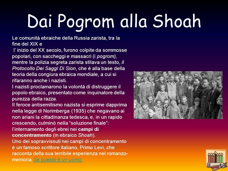 Dai Pogrom alla Shoah Le comunità ebraiche della Russia zarista, tra la fine del XIX e.