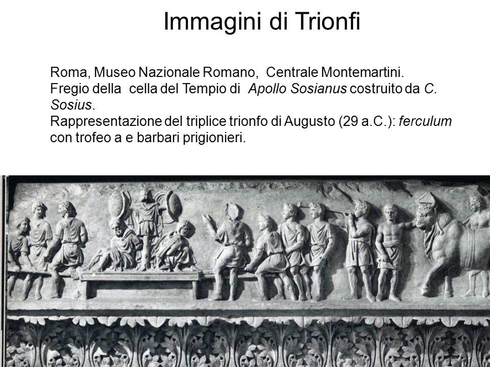 Immagini di Trionfi Roma, Museo Nazionale Romano, Centrale Montemartini. Fregio della cella del Tempio di Apollo Sosianus costruito da C. Sosius.