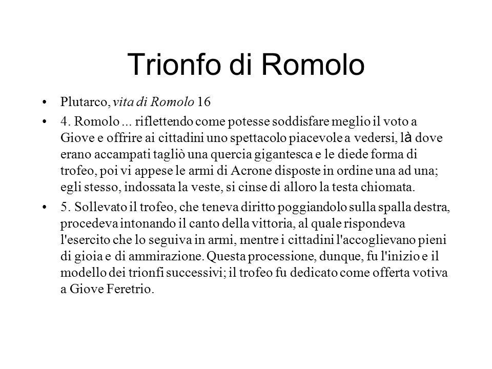 Trionfo di Romolo Plutarco, vita di Romolo 16