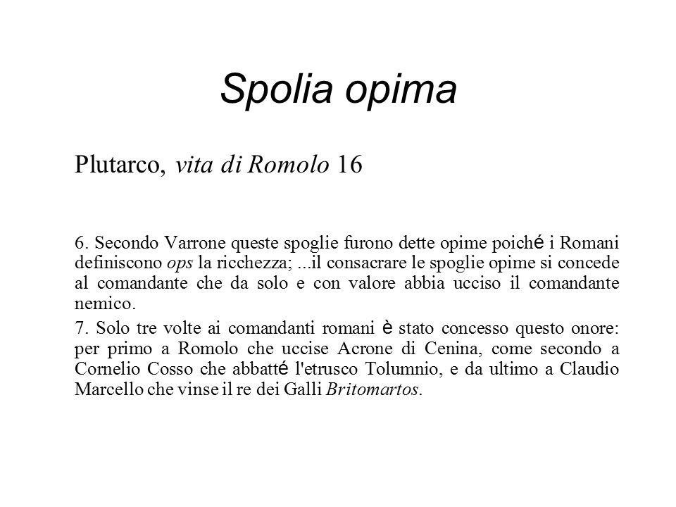 Spolia opima Plutarco, vita di Romolo 16