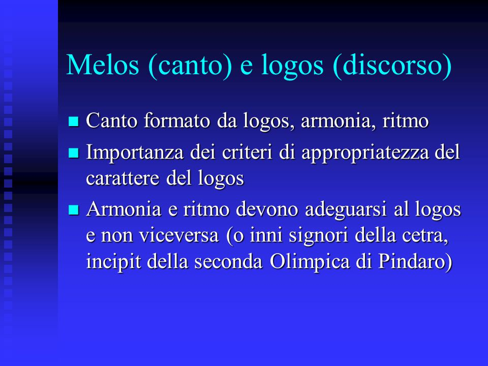 Melos (canto) e logos (discorso)