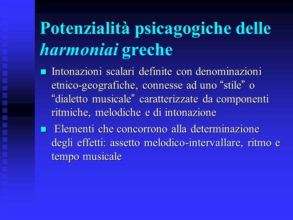 Potenzialità psicagogiche delle harmoniai greche