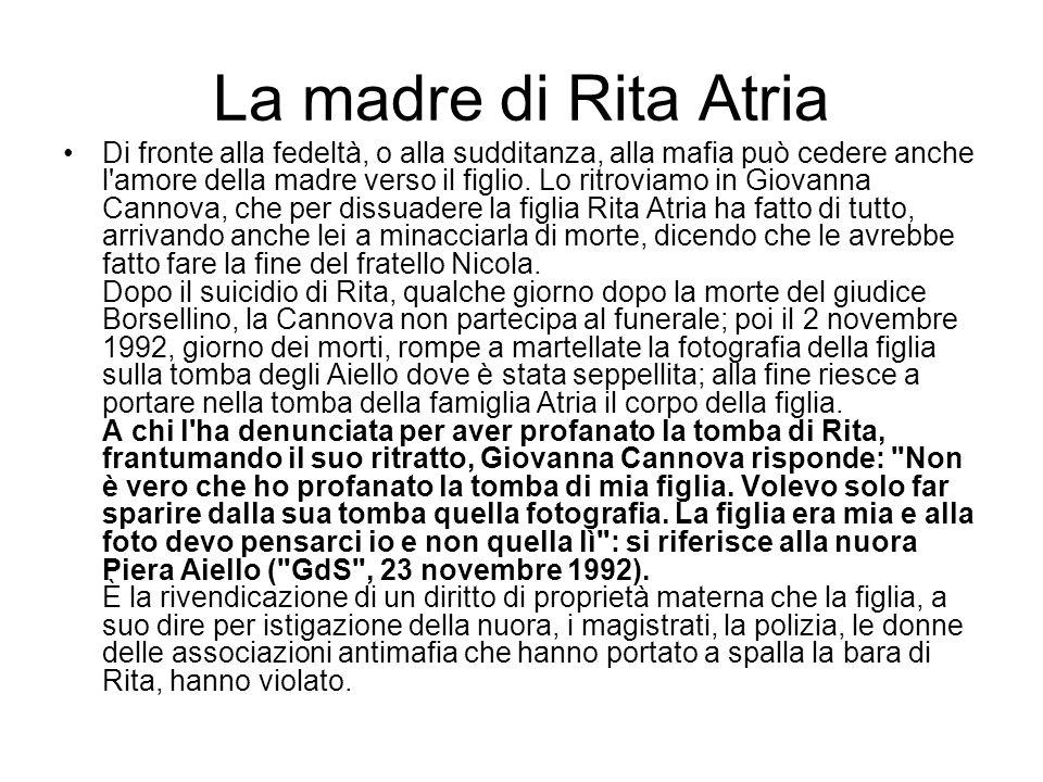 La madre di Rita Atria