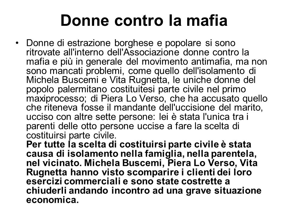 Donne contro la mafia