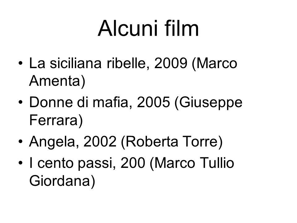 Alcuni film La siciliana ribelle, 2009 (Marco Amenta)