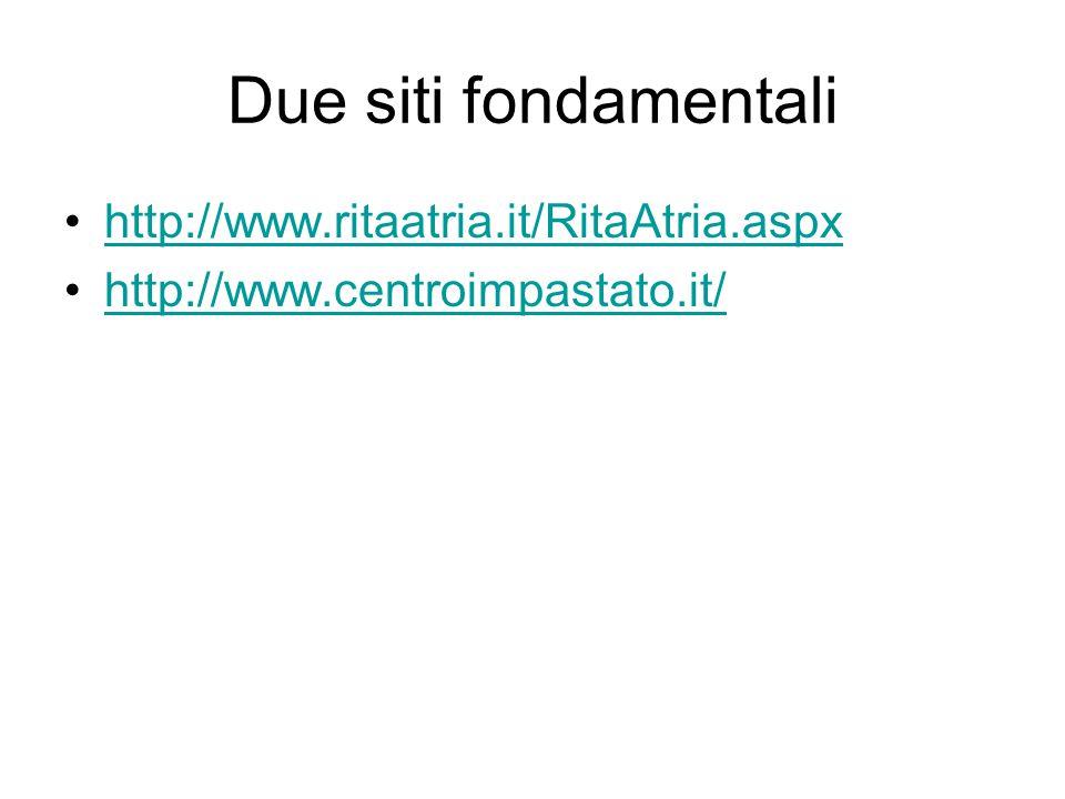 Due siti fondamentali http://www.ritaatria.it/RitaAtria.aspx