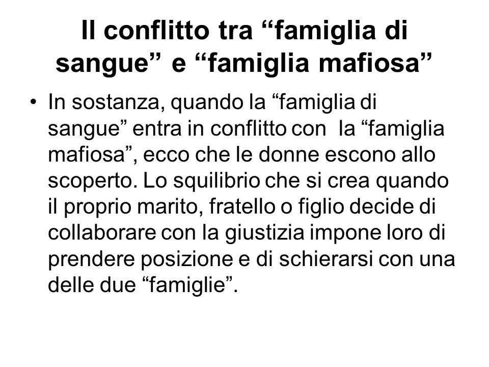 Il conflitto tra famiglia di sangue e famiglia mafiosa