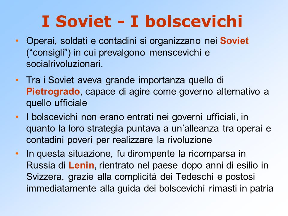 I Soviet - I bolscevichi