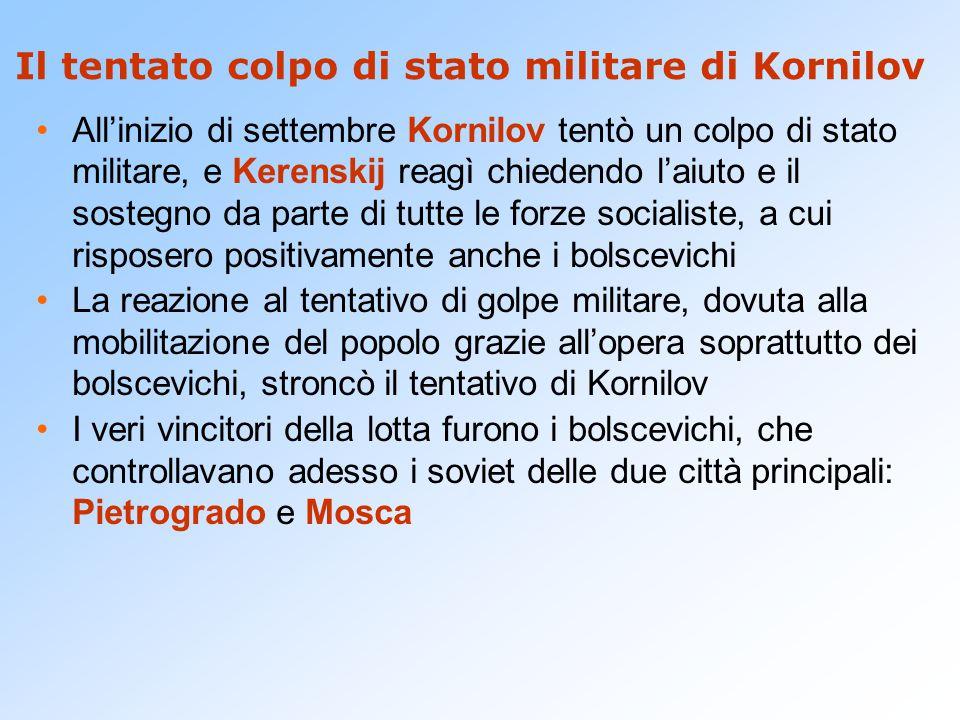Il tentato colpo di stato militare di Kornilov