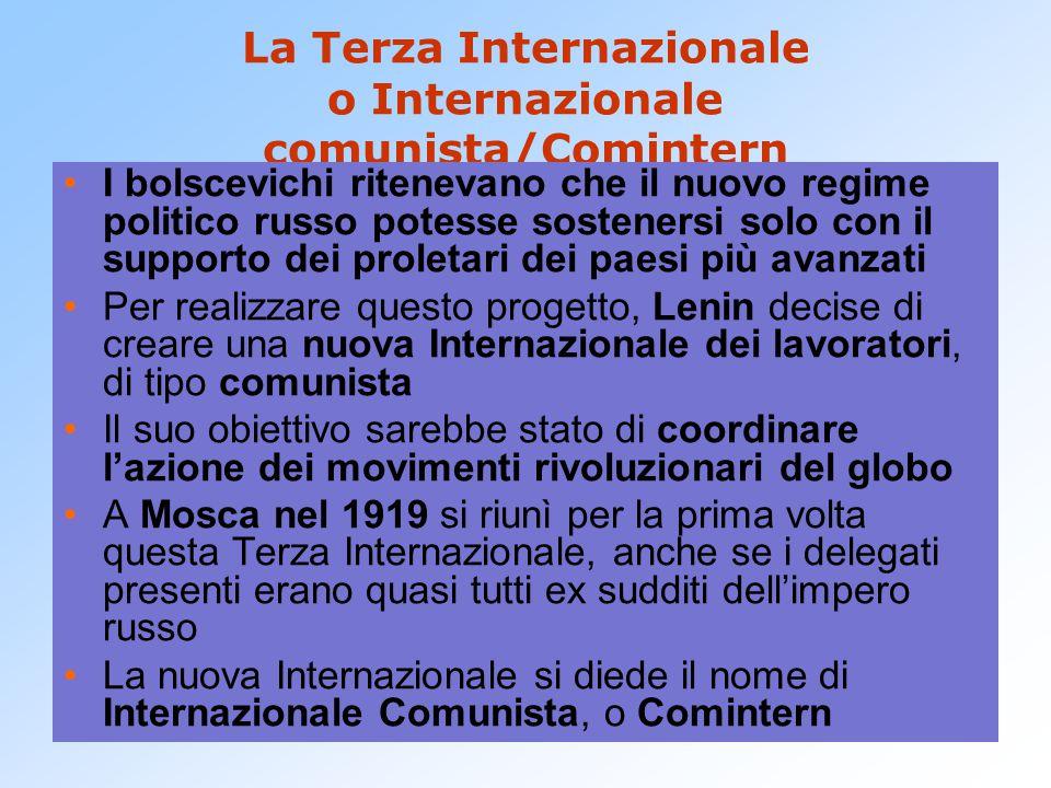 La Terza Internazionale o Internazionale comunista/Comintern