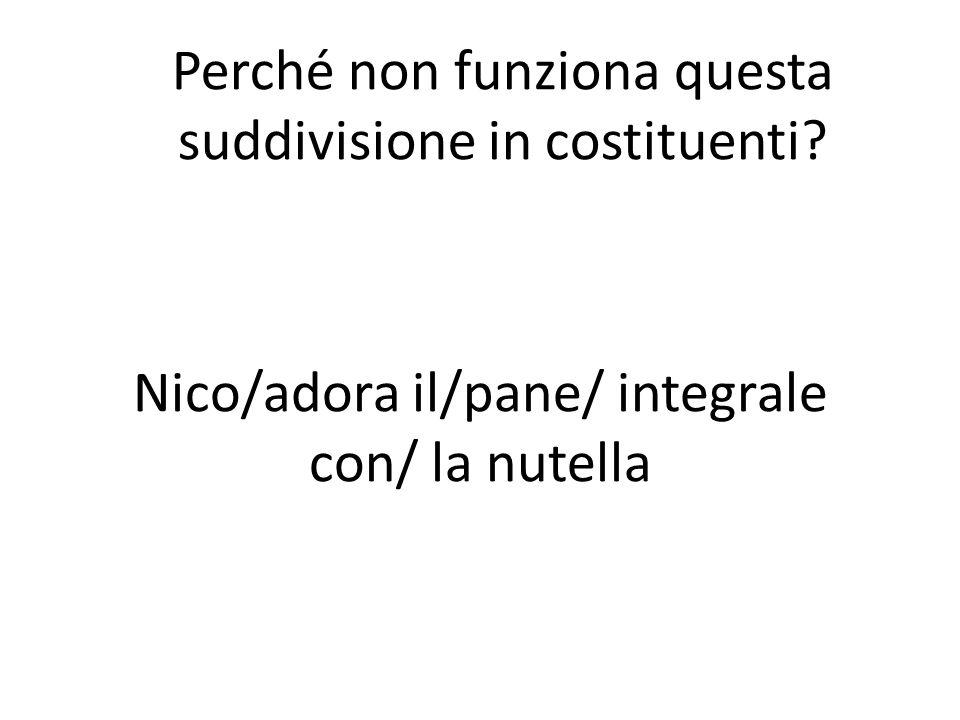 Nico/adora il/pane/ integrale con/ la nutella