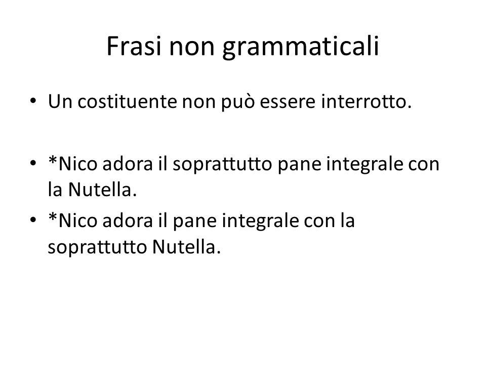 Frasi non grammaticali