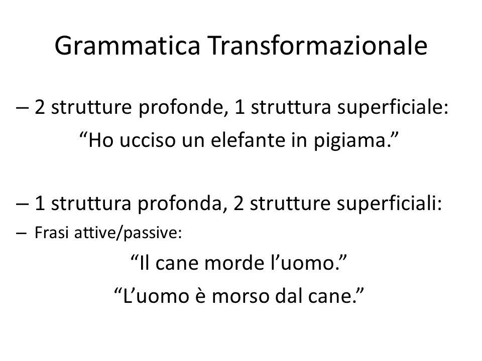 Grammatica Transformazionale