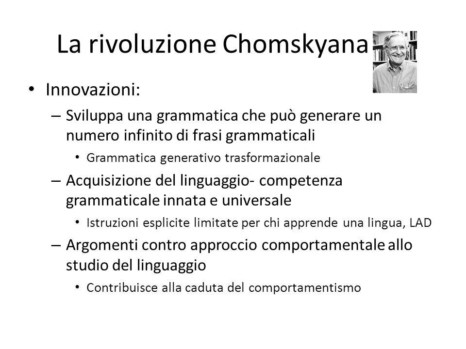 La rivoluzione Chomskyana