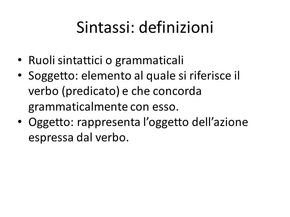 Sintassi: definizioni